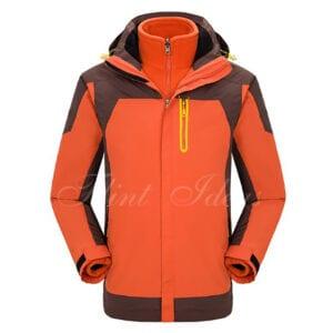 二合一防風防水登山滑雪外套 -06