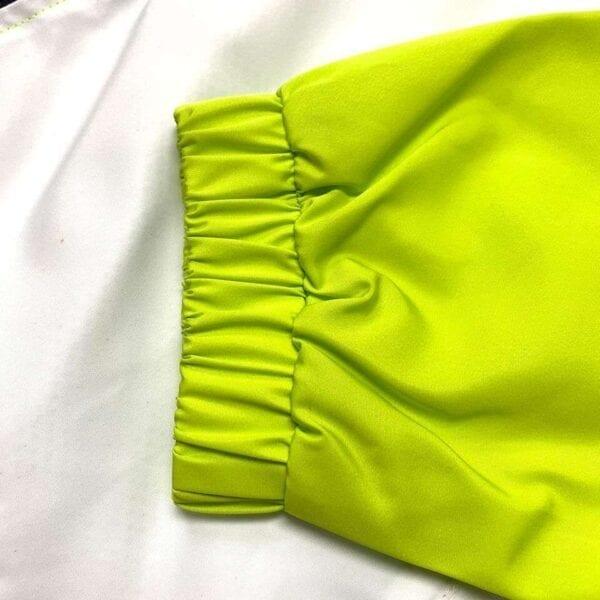 青綠撞白熱昇華風褸外套 -05