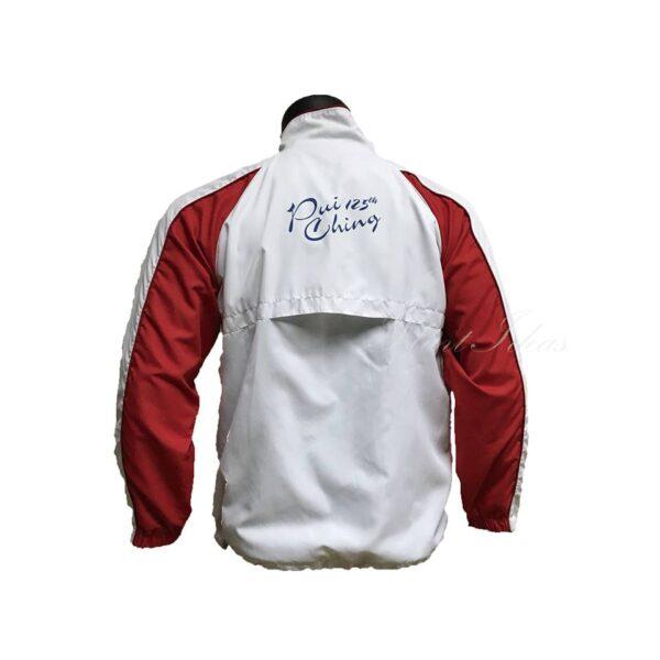 紅白撞色企領風褸外套 -02