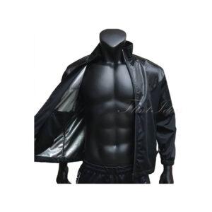 黑色雙料風褸外套 -03