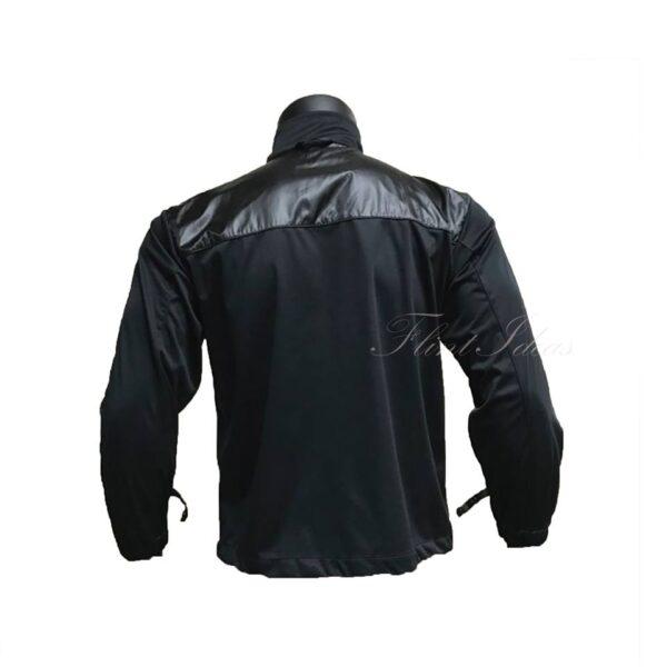 黑色雙料風褸外套 -02