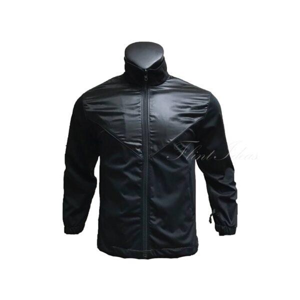 黑色雙料風褸外套 -01