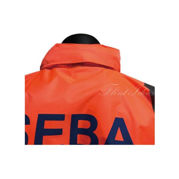 橙色反光條防水風褸外套 -06