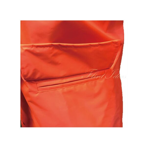 橙色反光條防水風褸外套 -07