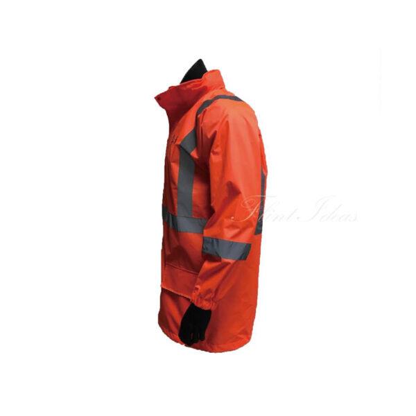 橙色反光條防水風褸外套 -04