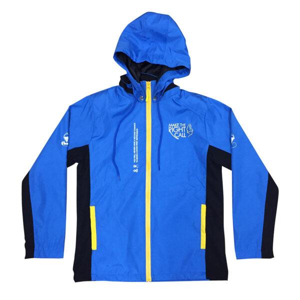 三色時尚拉鏈風褸外套 -01