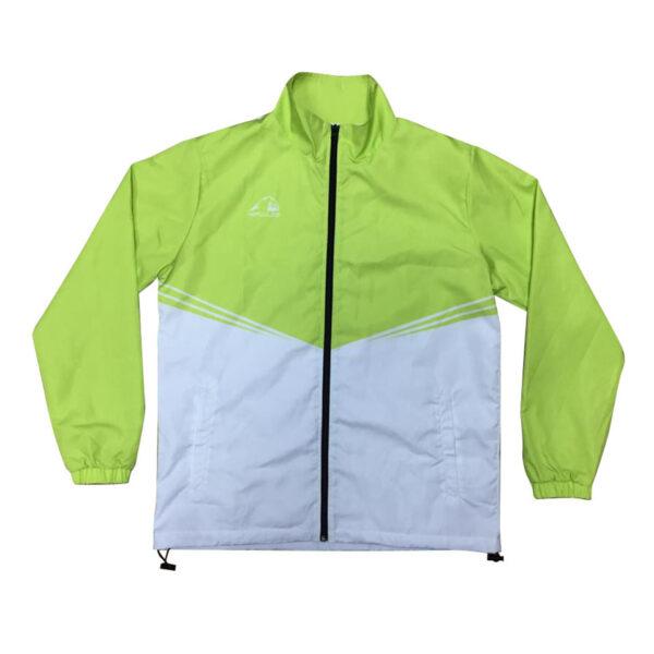 青綠撞白熱昇華風褸外套 -01