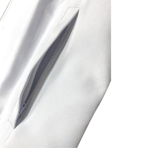 四面彈舒適拼色風褸 -06