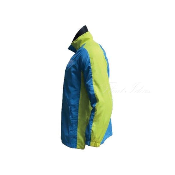 風褸, 風褸訂造 - 藍綠撞色牛角袖風褸-03