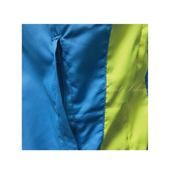 風褸, 風褸訂造 - 藍綠撞色牛角袖風褸-04