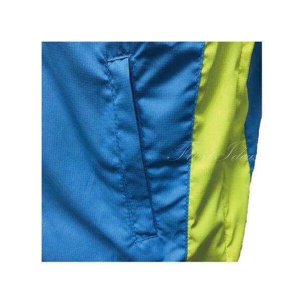 風褸, 風褸訂造 - 藍綠撞色牛角袖風褸-08